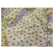 Cute Toy Print Cotton Fabric