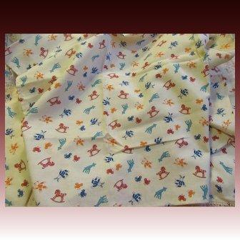 Cute Toy Print Cotton Fabric