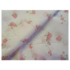 Gorgeous Vintage Nylon Organdy Fabric-Pink Floral