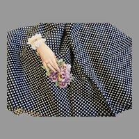 Crisp Vintage Cotton Fabric-Black/White Polka Dots