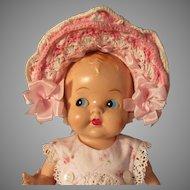 Wonderful Old Crochet Doll Bonnet-Wire Brim