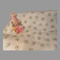 Wonderful Vintage Cotton Dimity Fabric-Lavender Wreaths