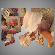1930's Baby Doll Bonnet & Crochet Mitts!