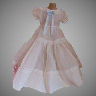 White Organdy Vintage Party Dress
