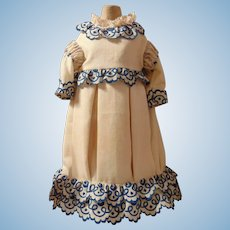 Marvelous Antique Cotton Doll Dress