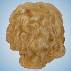 Antique Mohair Doll Wig-Lush Blonde Tendrils