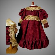 Splendid Wine Color French Doll Costume