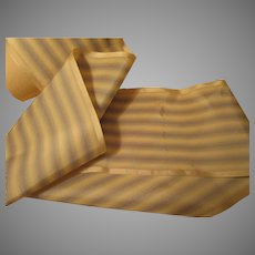 Gorgeous Antique Royal/Cream Stripe Silk Ribbon