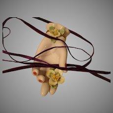 Purple Narrow Silk Velvet Ribbon