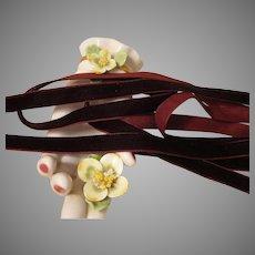 Rich Raisin Velvet Ribbon
