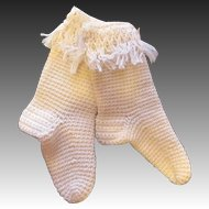 Cozy Antique Wool Knit Doll Stockings