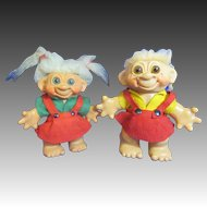 Two 1960's Dam Troll Dolls