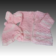 Vintage Effanbee Crochet Sweater Baby Doll Set