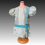 Pretty Vintage Aqua Taffeta Doll Dress