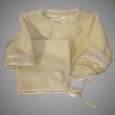 Dreamy Winter White Baby Coat & Hat