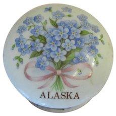 Petite Porcelain Trinket Box-Forget Me Nots.