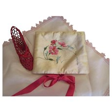 Margaret Wouldn't Leave The House Without it-Hand Painted Hosiery/Jewelry Case