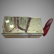 Sparkling Mirrored Murano Style Jewelry Box