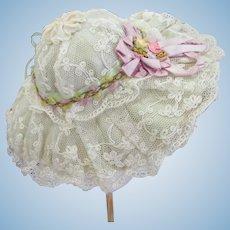 Beautiful Lace Doll Hat
