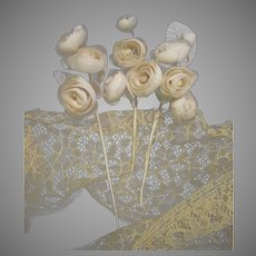 Two Stems Creamy Ivory Rose Bunch