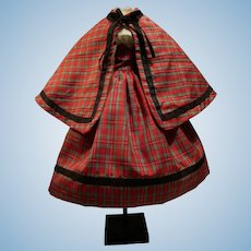 Huret Doll Plaid Scottish Costume!  Three Pieces