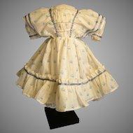 Pretty Enfantine Summer Dress For Huret, Rohmer, China Doll
