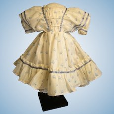 Pretty Enfantine Summer Dress For Huret, Rohmer, China Doll