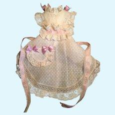 Splendid Dress Apron & Cap-Huret, Rohmer, French Fashion