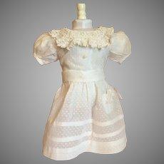 Pretty White Summer Doll Dress