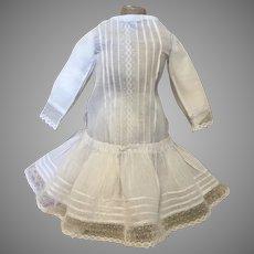 Dainty Hand Sewn Antique Doll Dress