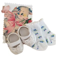 Dressy Baby Doll Shoes With Cotton Socks