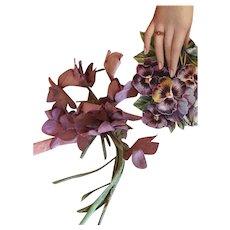 4b9d6d6bb7c Bouquet of Antique Cloth Millinery Violets!