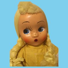 Uh Oh!  I Just Wet My Pants! Knickerbocker Jointed Cloth Doll-1950