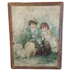 Victorian Handkerchief Box With Hanky