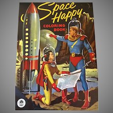 "COOL ""Space Happy"" Vintage 1950's Coloring Book"