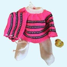 Cute Vintage Doll Knit Snow Suit