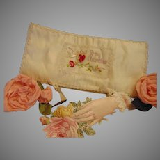 """Please Stay"", She Coaxed, After He Gave Her This Valentine Hanky Case"