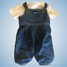 Wow!  Vintage Lee Baby Doll Denim Coveralls & Tee Shirt