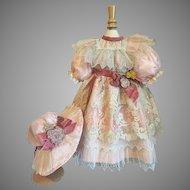 Beautiful Silk & Lace Doll Costume