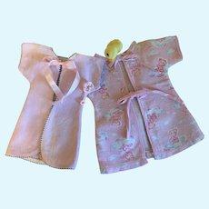 Two Cute 1940's Doll Kimonos-Tiny Tears-Dy Dee Baby