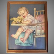 Delightful Vintage Baby Print by Charlotte Becker