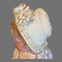 Gorgeous Antique French Silk Bonnet