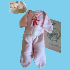 Cozy Baby Doll Pajama Sleeper-Old Store Stock