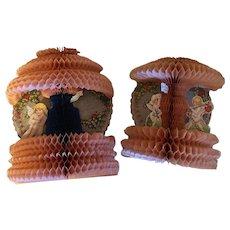 Two Vintage Honeycomb Valetines