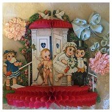 Beautiful German Googly Antique Valentine