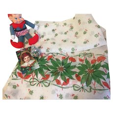 Vintage Christmas Cotton Organdy Fabric