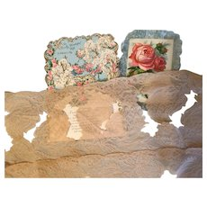 Elegant Antique French Embroidered Lace!