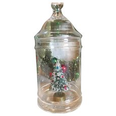 Vintage Apothecary Christmas Candy Jar