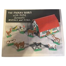 The Merry Barn 1930's Play Set!  Boxed