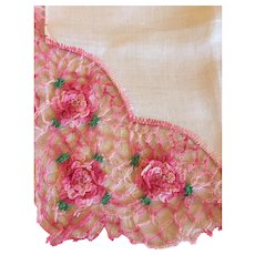 A Gorgeous Vintage Handkerchief-Pink Roses